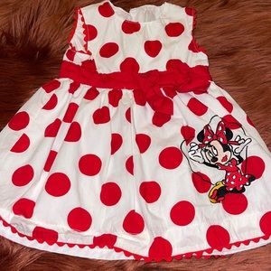 Disney Baby Girl Red Minnie Mouse Dress!